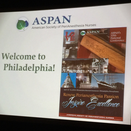 35th ASPAN National Conference in Philadelphia 2016