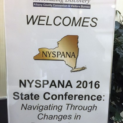 NYSPANA State Conference in Latham, NY on October 20-21st 2016